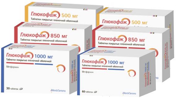 Глюкофаж 500/850/1000 мг - официальная инструкция по применению ...